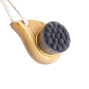 Rosette Bamboo Charcoal Fiber Face Brushes Soft Facial Cleanser Facial Skin Care Tool pore cleaner Exfoliate Brush Bamboo Handle (gray)