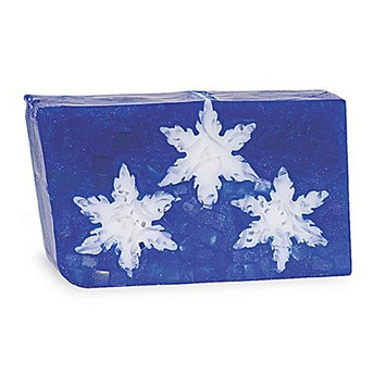 Primal Elements Sliced Soap Loaf, Handmade Natural Glycerin Rich Formula, 5 LB, Holiday Snowflakes