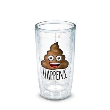Tervis 16 oz Tumbler emoji - Poop Happens No Lid