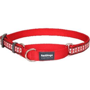 Red Dingo MC-RB-RE-ME Martingale Dog Collar Reflective Red Medium