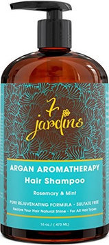 7 Jardins 100% Pure Essential Oil Blend Argan Rosemary & Mint Hair Shampoo 16 oz
