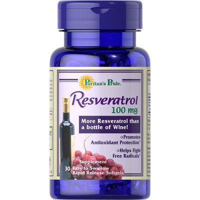 Puritan's Pride Resveratrol 100 mg-30 Rapid Release Softgels
