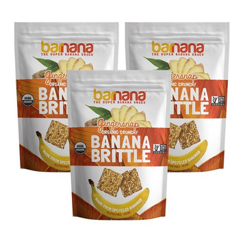 Barnana Banana Brittle, Ginger, 3.5 OZ, 3 Count - Organic dessert cookie style snack with potassium, vitamin C, and other clean ingredients. Gluten free
