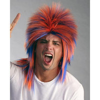 Sporty Team Sports Costume Wig by Enigma Costume Wigs,Orange/Blue