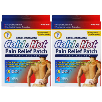 Pure-Aid Cold & Hot Pain Relief Patch-4ct (2 Pack)