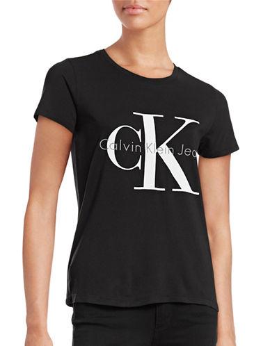 Calvin Klein Jeans Stretch Logo T-Shirt-BLACK-Medium