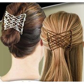 EZ Combs COMBO Hair Styling Bands As Seen On TV - Caramel Bronze, Dazzling Silver, Sahara Sandalwood, and Classic Bermuda Black Combo