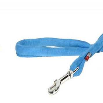 Dogline M8066-2 6 ft. L x 0.38 W in. Comfort Microfiber Round Leash Blue