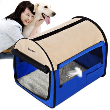 Homdox 38inch Folding Pet Dog Soft Carrier Cage, travel dog crate