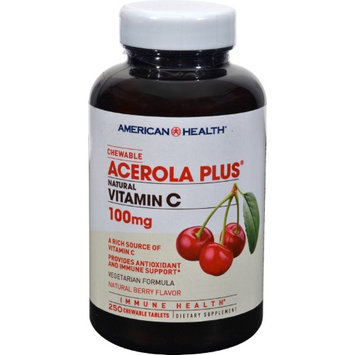 American Health Acerola Plus Natural Vitamin C Chewable Berry - 100 mg - 250 Chewables - HSG-461400