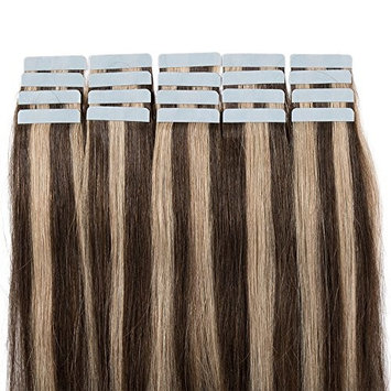 100% Real Human Hair Tape In Hair Extensions Human Hair 20 pieces 22