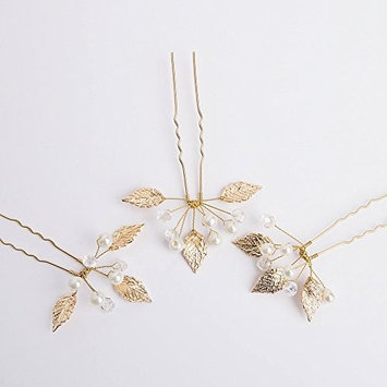 Kercisbeauty Butterfly Three Leaves Crystal Clear Bridal Hair Pins Wedding Headpiece Bridal Hairpiece Wedding Hair Accessories For Flower Girl Bridal (Set of 3)