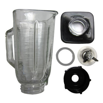 Better Chef 6-piece Complete Glass Jar Replacement Kit for Oster Blender 4899