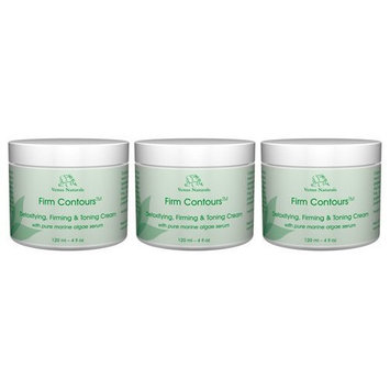Firm Contours, Body Firming & Toning and Cellulite Cream with Algae Serum, 3-4oz Jars
