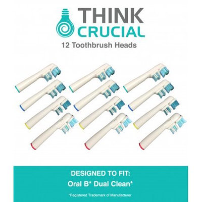 Crucial Vacuum 12 Oral-B Dual Clean Electric Toothbrush Head Replacements, Part # SB-417A
