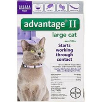 Bayer Advantage II Flea Prevention for Cats [6 doses]