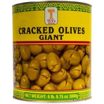 Tut's Giant Cracked Olives, 105.75 oz