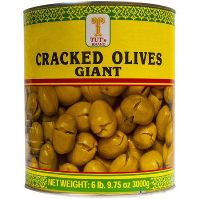 Tut's Giant Cracked Olives, 105.75 oz