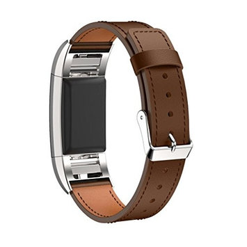 AutumnFall Replacement Luxury Genuine Leather Band Strap Bracelet for Fitbit Charge 2