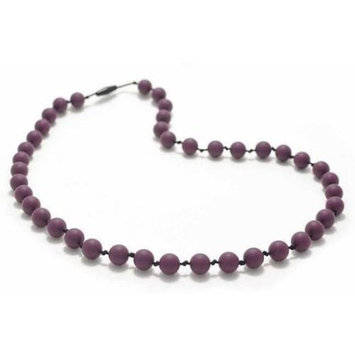 Bitey Beads Classic Silicone Teething Nursing Necklace - Grape