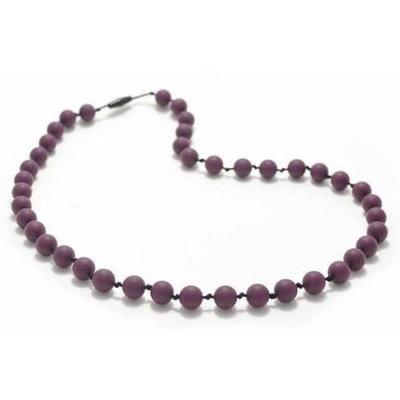Bitey Beads Classic Silicone Teething Nursing Necklace - Grape