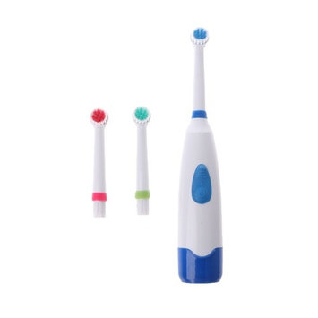 Onpiece Waterproof Rotating Electric Toothbrush With 3 Brush Head