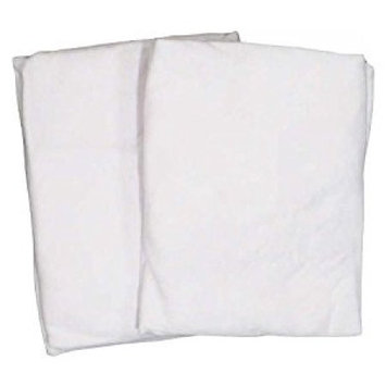 Cradle 2 Pack Value Jersey White Fitted Sheet by American Baby Company