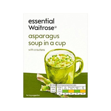 Asparagus with Croutons Cup Soup essential Waitrose 4 x 28g - Pack of 4