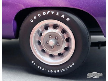 GMP 18825 1970 Plymouth Road Runner Rally Wheels & Tires Set of 4 Pack 1-18