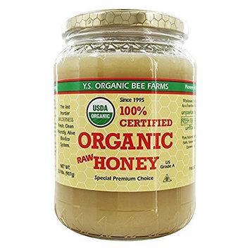 YS Organic Bee Farms CERTIFIED ORGANIC RAW HONEY 100% 1Pack (32 oz Each ) Rgklsw