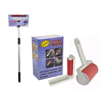 Sticky Master Tape-less Lint Remover - 3 Piece Set - Super Sticky Reusable Washable Rollers