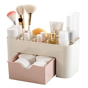 Cnlinkco Women Makeup Case Perfume Jewelry Cosmetic Holder Storage Organizer Box Drawer