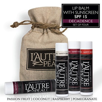 Luxury Lip Balm Set with SPF 15 by L'AUTRE PEAU - Dry Chapped Lips Treatment with Moisturizer for Sun Protection (Decadence Set)