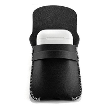 Case For Apple AirPods Earphones ,Vovomay Genuine Leather Hang Case Cover Pouch For Apple Airpods