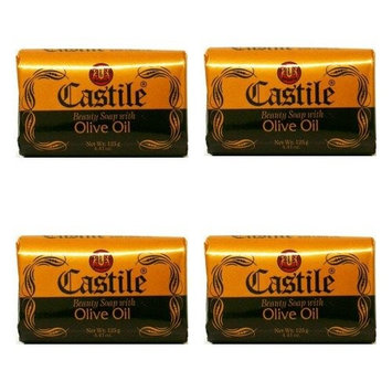 Bundle of 4 Castile Beauty Soap with Olive Oil 3.9oz x 4 Delivers 3 - 5 Days USA