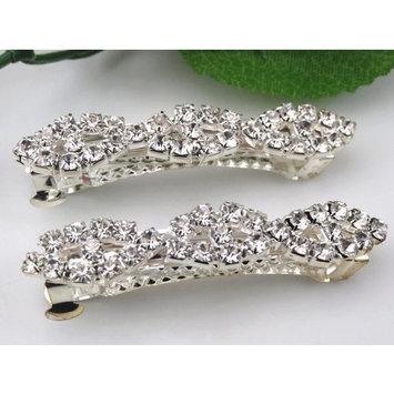 1pcs Gorgeous Clear Rhinestone Crystal Hair Barrette Clip Wedding