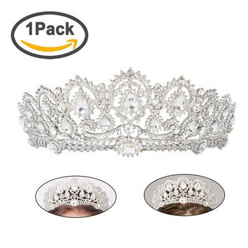 Tiara Crown Party Queen Crown Prom Pageant Crowns Princess Crown Rhinestone Crystal Wedding Bridal Crowns Tiaras for Women Girls, Silver
