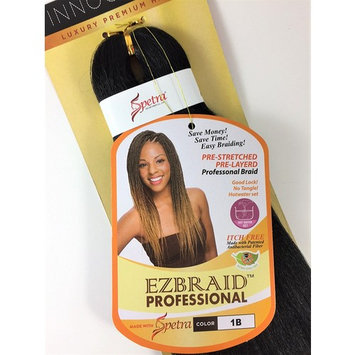 EZ Braid Professional 20 inches 1 Pack (Pre-Stretched) Braiding Hair (Color 1B/Off Black)
