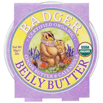 Badger Company, Organic Belly Butter, Cocoa Butter & Calendula, 2 oz (56 g)