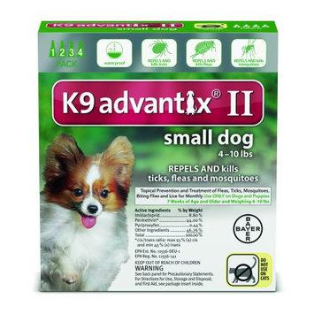 K9 ADVANTIX II Dog Flea & Tick 21-55 lbs Red 4 Month