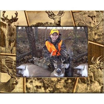 Giftworks Plus SPR2008 Deer Scatter, Alder Wood Frame, 4 x 6 In