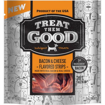 Treat Them Good Bacon and Cheese Flavor Strip, 6 oz