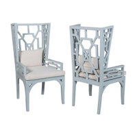 GuildMaster Manor Dining Chair in Blue (Set of 2)