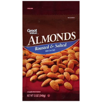 Wal-mart Stores, Inc. Great Value Roasted & Salted Almonds, 12 oz