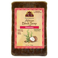 OKAY African Black Soap Rosemary 156 g - 5.5 oz