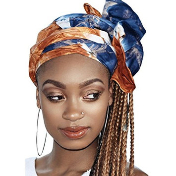 Queen nikki Multi Color Tie Died African Headwrap