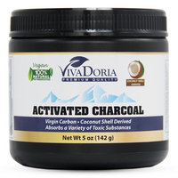Viva Doria Activated Charcoal Powder, Coconut Shell Derived, 5 Oz