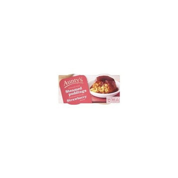Auntys Strawberry Steamed Pudding- Fast