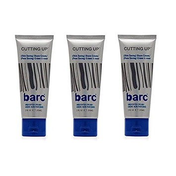 Barc Cutting Up, Unscented Shave Cream, 2 Oz (Pack of 3) + FREE LA Cross 71817 Tweezer