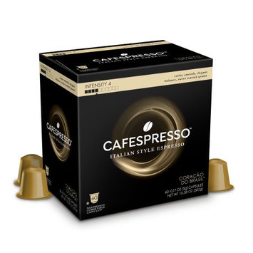 Trilliant Food Cafespresso Coracao do Brasil, Nespresso ® Compatible Capsules, 60 count (5 g) capsules, Intensity Level 4